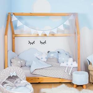 Baby Star Σεντόνια Κρεβατιού Μπλε Σύννεφο (3τμχ)