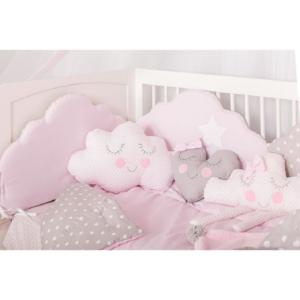 Baby Star Σεντόνια Λίκνου Σύννεφο Ροζ