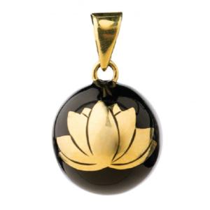 Bola Μενταγιόν Εγκυμοσύνης Black-Gold Lotus
