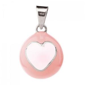 Bola Μενταγιόν Εγκυμοσύνης Pink-White Heart