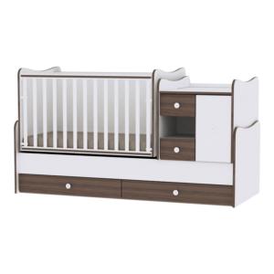 Lorelli Πολυμορφικό Κρεβάτι MiniMax White-Walnut
