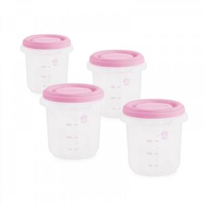 Miniland Σετ Δοχεία Φαγητού Hermetics Ροζ 250ml (4τμχ)