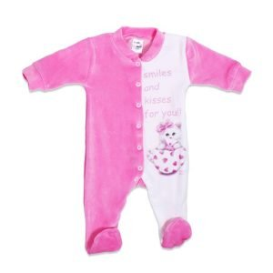 Pretty Baby Φορμάκι Βελουτέ Ροζ 6-9 μηνών (1 τεμάχιο)