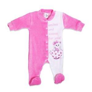 Pretty Baby Φορμάκι Βελουτέ Ροζ 3-6 μηνών (1 τεμάχιο)