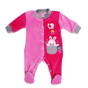 Pretty Baby Φορμάκι Βελουτέ Ροζ 9-12 μηνών (1 τεμάχιο)
