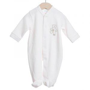 Little Baby Φορμάκι με Σχέδιο Αρκουδάκι Interlock Cotton
