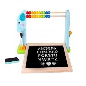 Tooky Toys Μαυροπίνακας Διπλής Όψεως Με Αριθμητική-1
