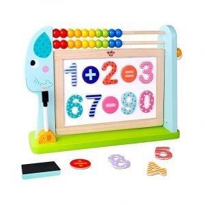 Tooky Toys Μαυροπίνακας Διπλής Όψεως Με Αριθμητική