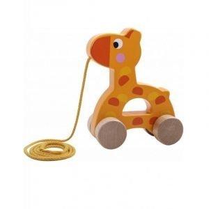 Tooky Toys Ξύλινη Συρόμενη Καμηλοπάρδαλη