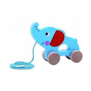 Tooky Toys Ξύλινος Συρόμενος Ελέφαντας