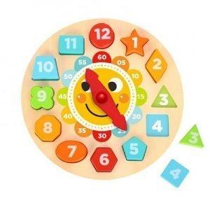 Tooky Toys Ξύλινο Ρολόι Παζλ