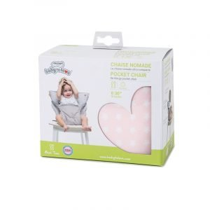 Baby to Love Μαξιλάρι Για Καρέκλα Pocket Chair On The Go Pink Stars