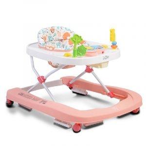 Cangaroo Περπατούρα Baby Walker Zoo Pink
