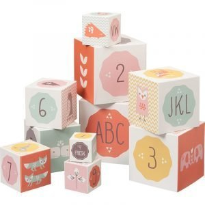 Fresk Στοιβαζόμενοι Κύβοι Με Νούμερα Και Σχέδια Ροζ