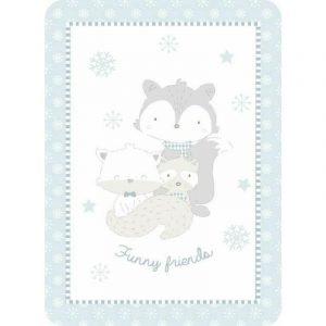 Kikka Boo Κουβέρτα Funny Friends Blue 80x110