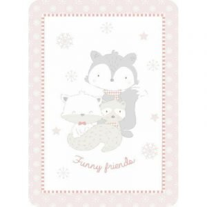 Kikka Boo Κουβέρτα Funny Friends 80x110 Pink