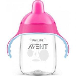 Philips Avent Κύπελλο Με Λαβές Και Στόμιο Ροζ 340ml