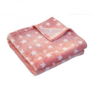 Douxnid Κουβέρτα Ροζ Λευκά Αστέρια 100x150