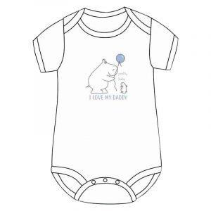 Pretty Baby Κορμάκι Εσώρουχο Λευκό I LOVE MY DADDY 6-12 Μηνών