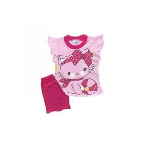 Pretty Baby Παιδική Πιτζάμα Γατούλα Βρεφική Κάλτσα