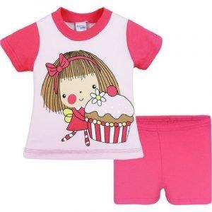 Pretty Baby Παιδική Πιτζάμα Κοριτσάκι Βρεφική Κάλτσα