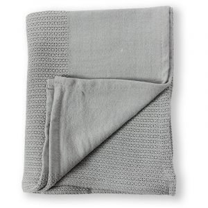 Minene Βρεφική Πλεκτή Κουβέρτα Γκρι 70x110