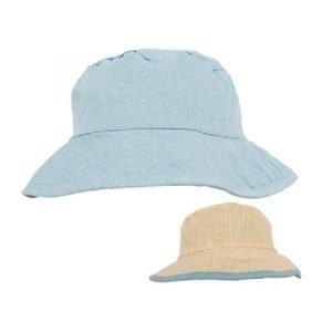 Minene Βρεφικό Καλοκαιρινό Καπέλο Διπλή Όψεως 18-24m Μπλε-Κίτρινο