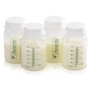 Ameda Μπουκαλάκια Αποθήκευσης Μητρικού Γάλακτος 4x120ml
