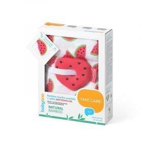 Babyono Πάνα Αγκαλιάς Μπαμπού Watermelon 120x120