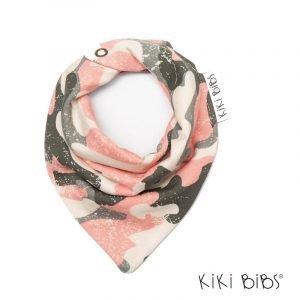Kiki Bibs Υφασμάτινη Σαλιάρα-Μπαντάνα Pink Army