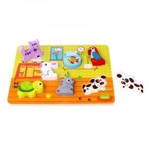 Tooky Toys Ξύλινα Σφηνώματα Με Κατοικίδια