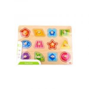 Tooky Toys Ξύλινο Παζλ Δραστηριοτήτων Με Σχήματα