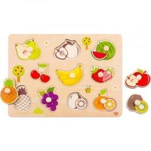 Tooky Toys Ξύλινο Παζλ Δραστηριοτήτων Με Φρούτα